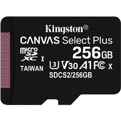 Tarjeta microsd xc kiNgston canvas select plus - 512gb - clase 10 - lectura SDCS2/256GBSP - SDCS2256GBSP