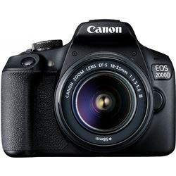 Camera fotos Canon eos2000d ef-s 18-55 ii 24,1mp lcd 3'' wifi negra pack 2728C057 - 8714574664125