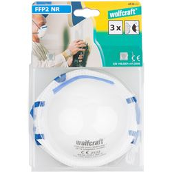Wolcraft pack 3 mascaras proteccion ffp2 nr d wolfcraft 4006885483606 - 82598