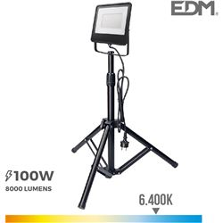 Edm foco proyector led con tripode 100w 6400k 8425998703368 - 70336
