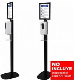 Approx STSANITIZER0 soporte stand negro 2 para dispensador appsanitizer - 30 - APPSTSANITIZER02